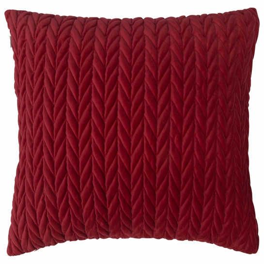 Pentik Palmikko Red Velvet Throw Pillow