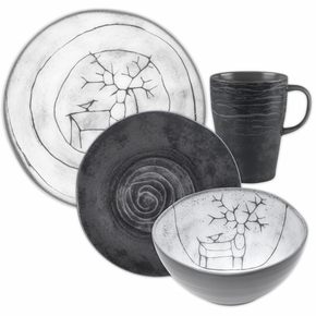 Pentik Posio / Kivi 4pc Dinnerware Set