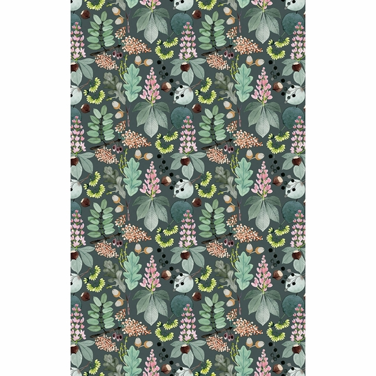 Pentik Puisto Grey / Multi Acrylic-coated Cotton Fabric