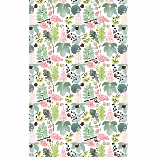 Pentik Puisto Ivory / Multi Acrylic-coated Cotton Fabric