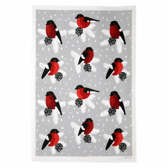 Pentik Punatulkku (Bullfinch) Kitchen Towel
