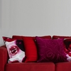 Pentik Ruusu Burgundy Velvet Throw Pillow