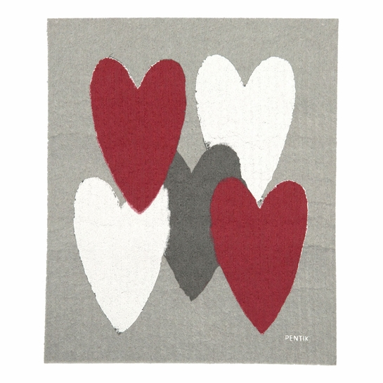 Pentik Sydan (Heart) Dish Cloth