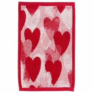 Pentik Sydan Red Terry Guest Towel