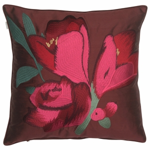 Pentik Sylvia Embroidered Silk Throw Pillow