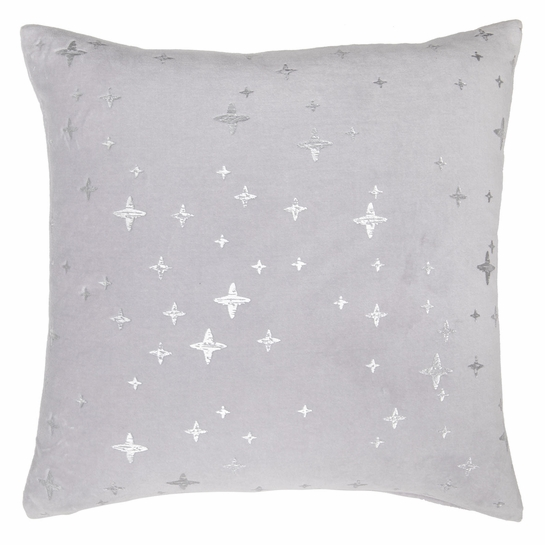 Pentik Tahtivyo Silver Velvet Throw Pillow
