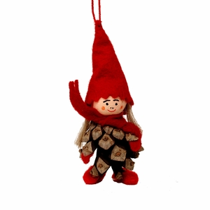 Pinecone Woman Tonttu Ornament