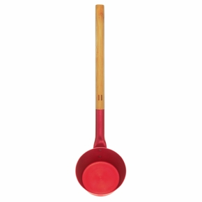 Rento Fiery Red Aluminum & Bamboo Sauna Ladle