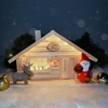 Santa's House with Santa and Reindeer Tonttus