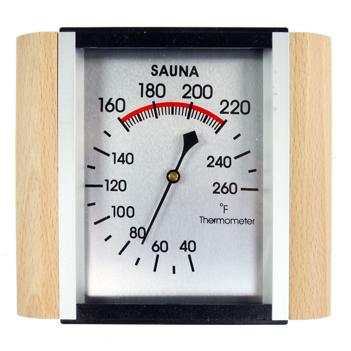 Sauna Thermometer w/ Wood Trim - Sauna Thermometers ...