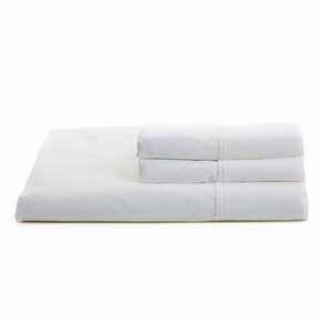 Solid White Twin Sheet Set
