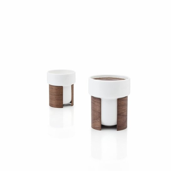 Tonfisk White Warm Tea/Coffee Cups - Set of 2