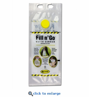 1 Gallon Fill N' Go Emergency Water Carry Bag