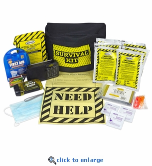 1 Person - 3 Day Survival Kit - Fanny Pack Emergency Kit
