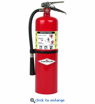 10 lb. ABC Dry Chemical Fire Extinguisher - Amerex B441 - 4A:80B:C