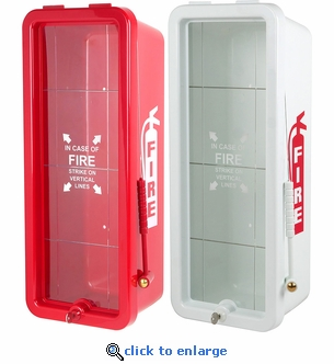 10 lb FireTech Fire Extinguisher Cabinet - Surface Mount Red or White