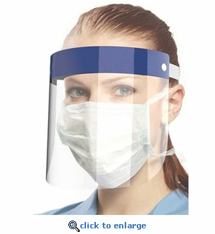 "10 Pack - PPE Protective Face Shield Visors - 13"" x 8 ½"""