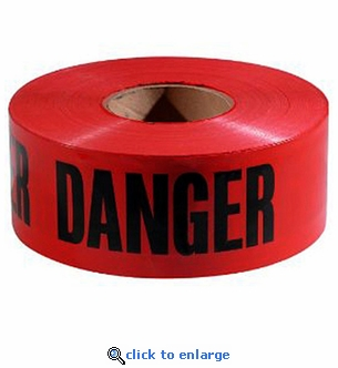 1000' Roll Red ''Danger'' Barricade Tape 3