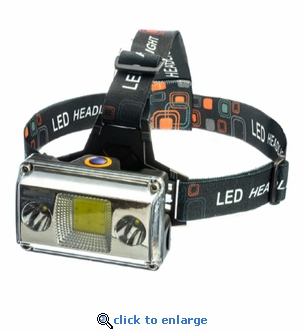 2-In-1 Rechargeable Head Lamp Bicycle Light 700 Lumen COB LED