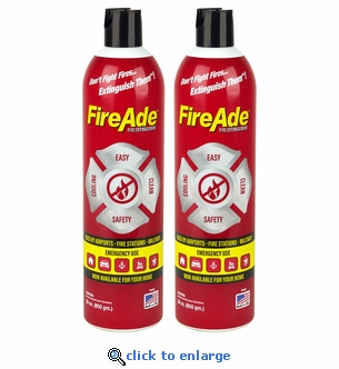 2-Pack FireAde 30 oz. Fire Extinguishers  - Workshop, Home & Auto