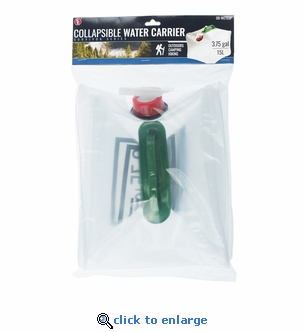 3.75 Gallon (15L) Collapsible Water Carrier With Handle and Spigot - 9