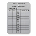 "4 Year Metal Fire Extinguisher Monthly Inspection Tag - 2 1/4"" x 3"" - 2021-2024"