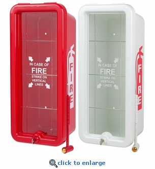 5 lb FireTech Fire Extinguisher Cabinet - Surface Mount - Red or White
