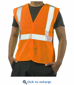 5-Point Break-Away Safety Vest Hi-Vis Orange - ANSI 107