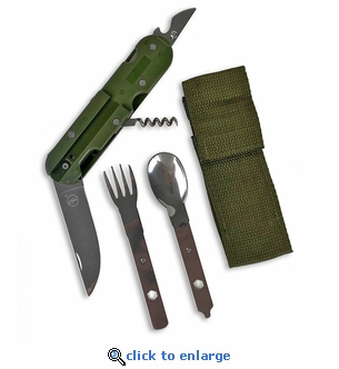 6-IN-1 Camping Multi-Tool With Carrying Case