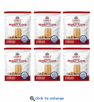 81 Serving Powdered Peanut Butter Pouch - 6 pack