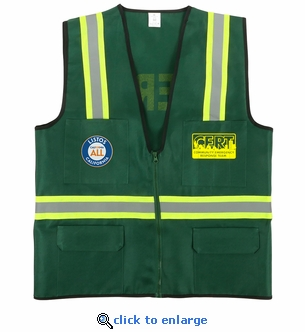 CERT LISTOS Jacket Vest - 6 Pocket with Reflective Stripes - Small to XXX-Large