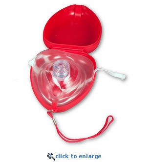 CPR Rescue Mask Kit - Plastic Case & Gloves - Dynarex 4924
