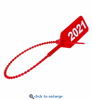 Dated 2021 Red Extinguisher Tamper Seals - 100 Pack