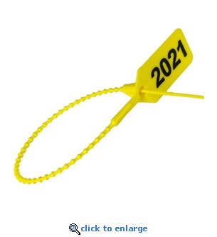 Dated 2021 Yellow Extinguisher Tamper Seals - 100 Pack