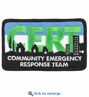 Embroidered CERT Logo Patch - 3.75