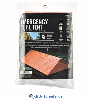 Emergency 2 Person Tube Tents - Pack of 6