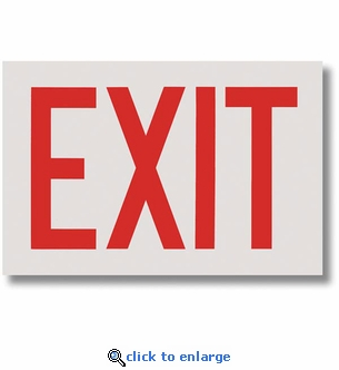 Exit Sign - Silk Screened on Adhesive Vinyl  - 12