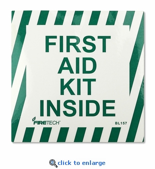 First Aid Kit Inside Sticker - Vinyl Self-Adhesive Label - 4