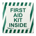 "First Aid Kit Inside Sticker - Vinyl Self-Adhesive Label - 4"" x 4"""