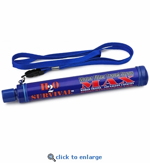 H2O Survival Max Water Filter Travel Straw - 530 Gal.