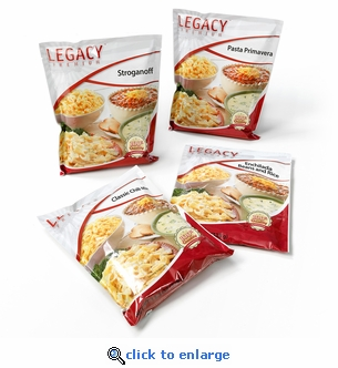 Legacy Foods 16 Serving Family Entrée Sample Pack