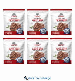 Legacy Freeze-Dried Beef - 6 Pouches