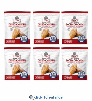 Legacy Freeze-Dried Chicken - 6 Pouches