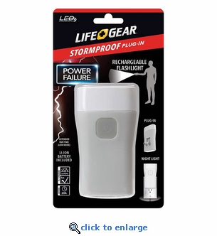 Life Gear 25-Lumen Stormproof Power Failure Night Light & Flashlight