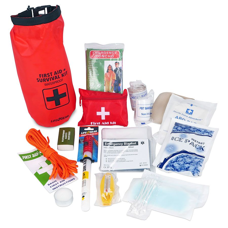 Life Gear 41-3820 Life+gear 41-3820 130-piece Dry Bag First Aid /& Survival Kit
