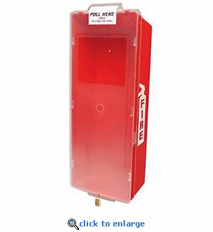 Mark II Fire Extinguisher Cabinet, Red Tub/Clear Cover - Indoor