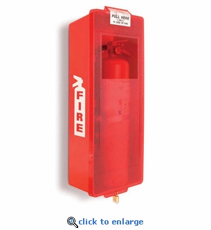 Mark II Fire Extinguisher Cabinet, Red Tub/Red Cover - Indoor/Outdoor