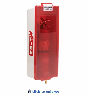 Mark II Fire Extinguisher Cabinet, White Tub/Red Cover - Indoor