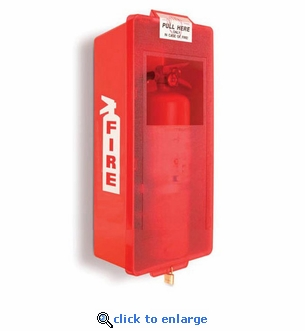 Mark II Junior Fire Extinguisher Cabinet, Red Tub/Red Cover - Indoor/Outdoor