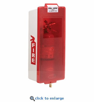Mark II  Junior Fire Extinguisher Cabinet, White Tub/Red Cover - Indoor